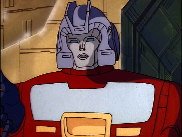 Orion Pax - Optimus Prime quando era um jovem operador de armazém nas Docas