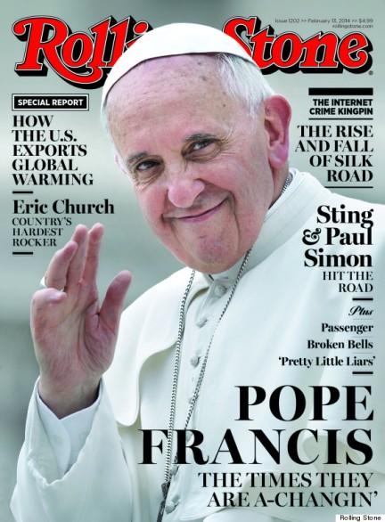 Papa Francisco na capa da Rolling Stone